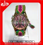 新款手表_低价礼品表新款合金编制带手表
