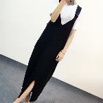 韩版针织背带连衣裙