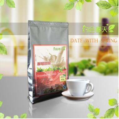 草莓奶茶粉1000g速溶批发奶茶店专用三